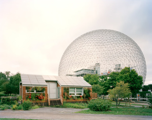 "Montréal 1967 World's Fair, ""Man and His World,"" Buckminster Fuller's Geodesic Dome With Solar Experimental House"