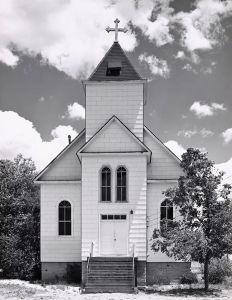 Catholic church, summer. Ramah, Colorado. 1965. © Robert Adams. Image courtesy of Fraenkel Gallery.