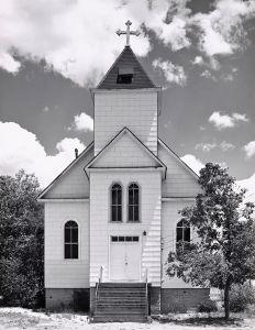 Catholic church, summer. Ramah, Colorado. 1965. © Robert Adams. Image courtesy of Fraenkel Gallery.