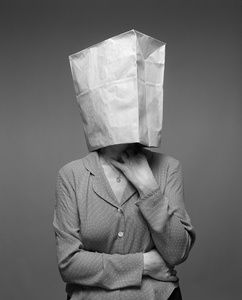 Women with Grocery Paper Bag