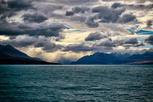 The quiet before the storm. Lake Pukaki, New Zealand.