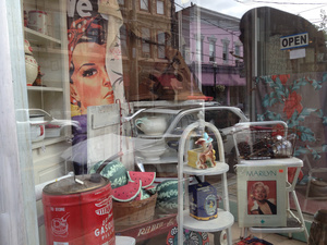 Antique Shop 'Yes She Can' (with Marilyn, gasoline and watermelon)