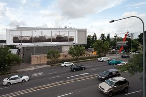 Tell him it is all a transition (installation Creative Industries Billboard Brisbane 2012)