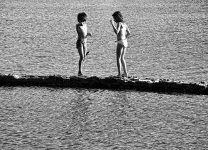 Fishing at the Elounda lagoon in Crete