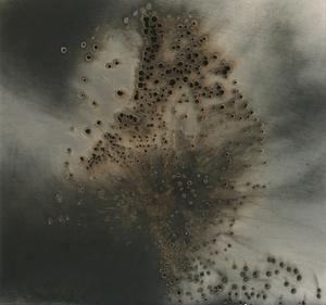Untitled Work of Fire .16-06-13 6 x 7.25 Unique gunpowder generated gelatin silver print.