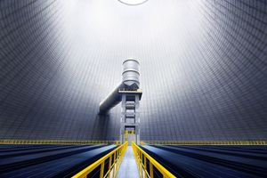 "Trianel I Interior view of the cooling tower. Height: 160 m, from the project ""Space and Energy"" © Luca Zanier"