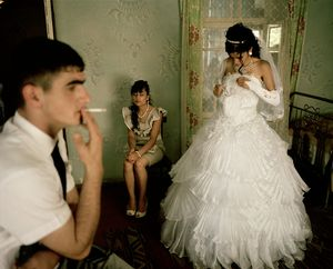 UNRECOGNIZED REPUBLIC OF NAGORNO-KARABAKH / Stepanakert / 4.9.2011. Erik Asratian (born 1992) and Christine Danilian (born 1994) on their Wedding Day. Christine still goes to school and Erik is doing his two-year military service.
