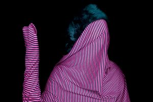 """Pink Stripes, from the Series """"Cast No Evil"""""""