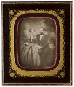 Unbekanntes Ehepaar (Unknown Couple), 1830-1880.