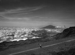 Porter descending Kilimanjaro