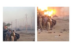 A massive ISIS VBIED explosion filmed by Iraqi Federal Police forces in Al Anbar