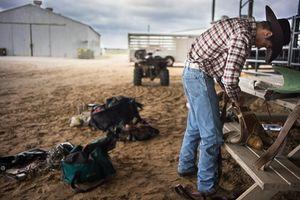 Cowboy early morning.