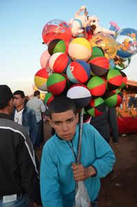 The Ball Seller. Ouled Haddou, Bouskoura , Morocco