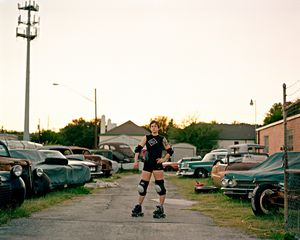 Brit, Austin, TX. 2009 My initial attraction to derby had a lot to do with it as an emerging subculture, one alligned with queer feminist politics  a sort of southern punk rock/rockabilly aesthetic. - Brit © Molly Landreth