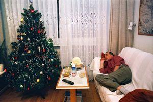 Jan is resting on the sofa, Pezinok, 2004. © Andrej Balco