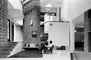 A.P. Kanvinde at home, 1966. Architect: A.P. Kanvinde. Photograph courtesy Madan Mahatta Archives and PHOTOINK