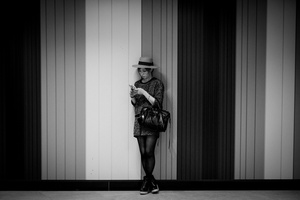 Woman in a Tokyo metro station
