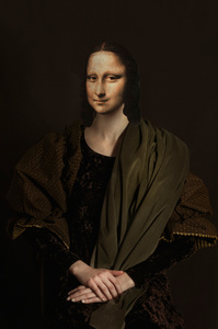 Mona Lisa in darkness
