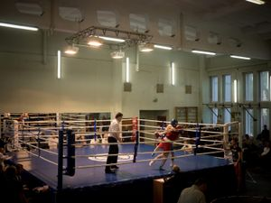 Boxing tournament between fighters from Luhansk and Donetsk.