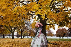 "From the series ""Scarlett America: American Wanderings of a Cardboard Stand-up"", Scarlett in Detroit, Michigan, November 2008"