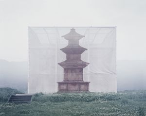 Illusionary Pagoda, 2012, Achival Pigment Print on Canvas