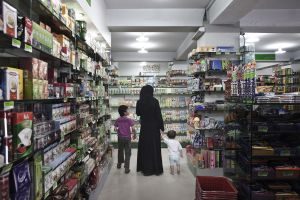The first Finest supermarket opened in 2006 in Wazir Akbar Khan, a traditionally chic Kabul neighborhood of embassies and NGO compounds.  There are now five Finest supermarkets spread throughout the city. Initially, the store provided for the needs of international workers and those of the Afghan diaspora. Now most of its clients are Afghan | Kabul, Afghanistan 2013 ©Sandra Calligaro