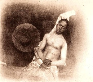 Drowned self-portrait,1840. © Hippolyte Bayard, courtesy of The Collection of the French Photographic Society.