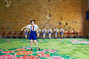 <i>Singing class, Children's Palace</i> from the series <i>DPRK</i> 2005<BR> © Philippe Chancel/ Courtesy Erik Franck Fine Art, London