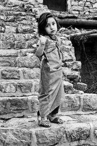 A portrait of Hawrami girl