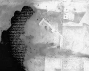 Untitled FLIR video still (an Apache gunship spots ground targets)