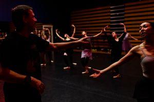30 Oct 2017. Firkin Crane, Cork. Yuri Demakov is seen instructing dancers during a rehearsal.