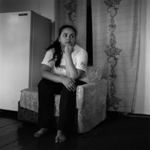 "Victoria Freund. Selkup by mother and German by father.  Activist of the ""Kolta Koop"", - an association of native people of the north of Tomsk region. Novoseltsevo. Tomsk region. Russia. 2008."