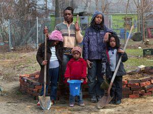 Tissheama, Jediah, Nirel, Anya, and Dah'Wu, Goldengate Street, Detroit 2013