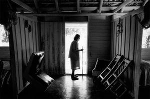 Martha in doorway © Susan S. Bank