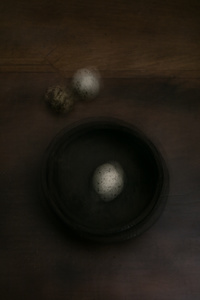 Perceptions. Quail Eggs And Bowl.
