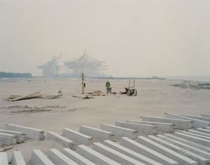 "Changxing Island III, Shanghai. From the series ""Yangtze, The Long River"" © Nadav Kander. Courtesy Flowers Gallery."