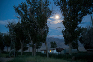 Old ranch by full moon. Dixie Valley, Nevada 2013