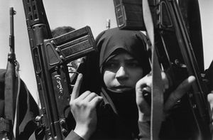 "Iran. Guardians of the revolution. 1979. From the book ""War Photographer: Between Shadow and Light"" © Christine Spengler"