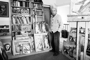 Shmuel Dresner in his studio.