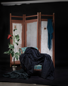 Untitled Screen Black Drap