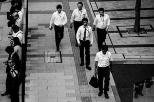 So-called 'salarymen' in Hamamatsucho, Tokyo