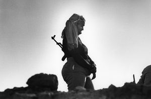 "The Western Sahara. Polisario Front in Guelta Zemmour. 1981. From the book ""War Photographer: Between Shadow and Light"" © Christine Spengler"