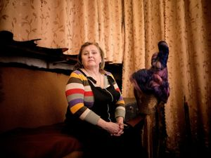 Portrait of a hairstylist of the Donetsk Opera Theatre.