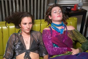 Teresa and Nola at Halloween, from Teen Tribe © Martine Fougeron