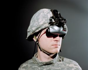 Headgear, 2008, from the PTSD series, project 'Virtual Iraq'. Courtesy of the artist.