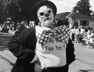 "Cow Chip Festival parade, Prairie du Sac, Wisconsin, USA, 1989, from ""Touchless Automatic Wonder"" © 2009, Lewis Koch"