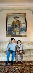 The children of Baron Alberto Franchetti, Raimondo and Laura, Venice 2009