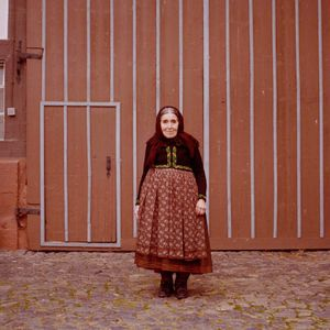 Katharina Hofmann, Catholic Marburger Land, 2015. From the series: The last women in their traditional peasant garbs