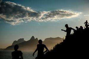 The Arpoador Rock , Ipanema, Rio de Janeiro, Brazil.