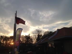 McDonald's NB exit NYS Thruway Saugerties sunset